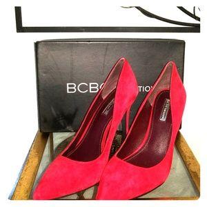 BCBG Red Pumps